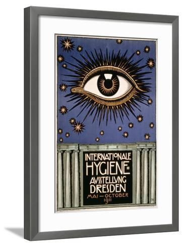 Advertisement for the 'First International Hygiene Exhibition' in Dresden, Printed by Leutert Und?-Franz von Stuck-Framed Art Print