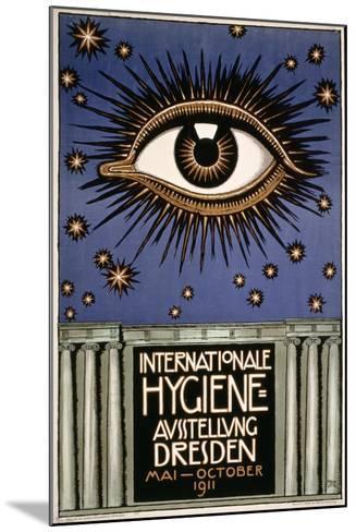 Advertisement for the 'First International Hygiene Exhibition' in Dresden, Printed by Leutert Und?-Franz von Stuck-Mounted Giclee Print