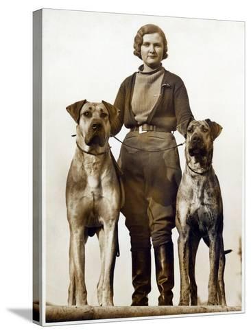 Sussex Canine Association Dog Show, Bognor Regis, Sussex, January 1934--Stretched Canvas Print