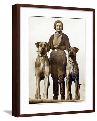 Sussex Canine Association Dog Show, Bognor Regis, Sussex, January 1934--Framed Art Print