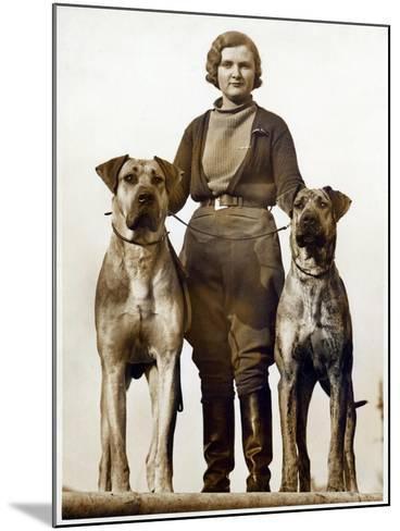 Sussex Canine Association Dog Show, Bognor Regis, Sussex, January 1934--Mounted Photographic Print