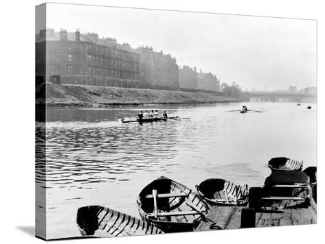 Rowing on the Clyde at Glasgow Green, 1955--Stretched Canvas Print