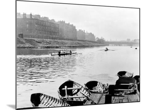 Rowing on the Clyde at Glasgow Green, 1955--Mounted Photographic Print