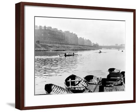 Rowing on the Clyde at Glasgow Green, 1955--Framed Art Print