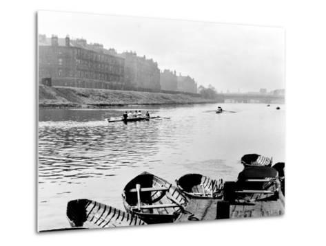 Rowing on the Clyde at Glasgow Green, 1955--Metal Print