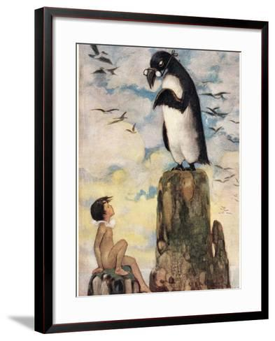 And There He Saw the Last of the Gairfowl, Illustration from 'The Water Babies' by Reverend…-Jessie Willcox-Smith-Framed Art Print