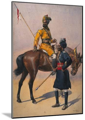 Soldiers of the 1st Duke of York's Own Lancers (Skinner's Horse) Hindustani Musalman and 3rd…-Alfred Crowdy Lovett-Mounted Giclee Print