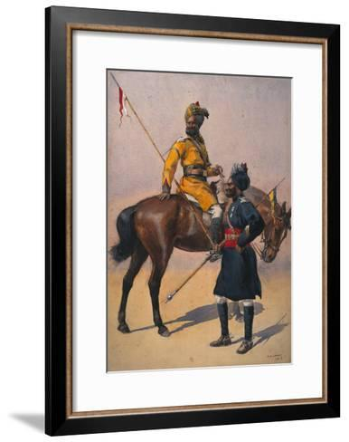 Soldiers of the 1st Duke of York's Own Lancers (Skinner's Horse) Hindustani Musalman and 3rd…-Alfred Crowdy Lovett-Framed Art Print