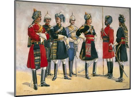 British Officers, Indian Army, Illustration for 'Armies of India', Published in 1911, 1910-Alfred Crowdy Lovett-Mounted Giclee Print