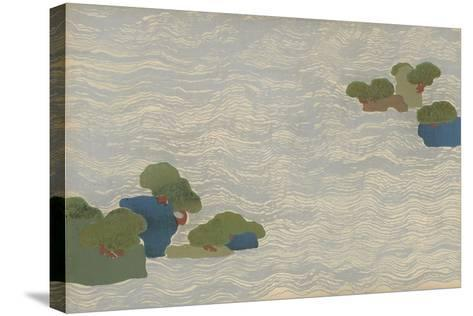 Pine Islands in a Silver Sea, from a Chigusa (A Thousand Grasses) Series, 1903-Kamisaka Sekka-Stretched Canvas Print