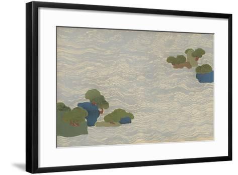 Pine Islands in a Silver Sea, from a Chigusa (A Thousand Grasses) Series, 1903-Kamisaka Sekka-Framed Art Print
