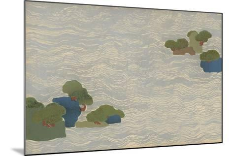 Pine Islands in a Silver Sea, from a Chigusa (A Thousand Grasses) Series, 1903-Kamisaka Sekka-Mounted Giclee Print