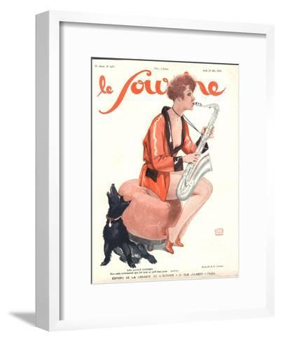 Front Cover of 'Le Sourire', 1929-Georges Leonnec-Framed Art Print