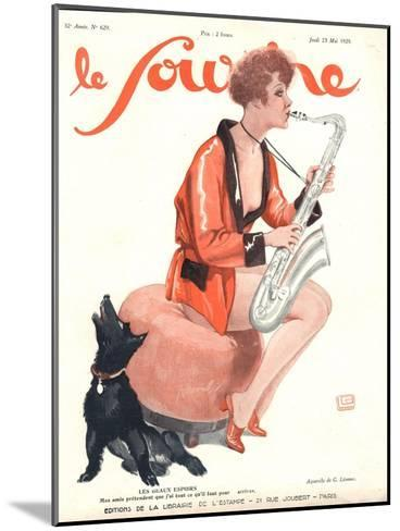 Front Cover of 'Le Sourire', 1929-Georges Leonnec-Mounted Giclee Print