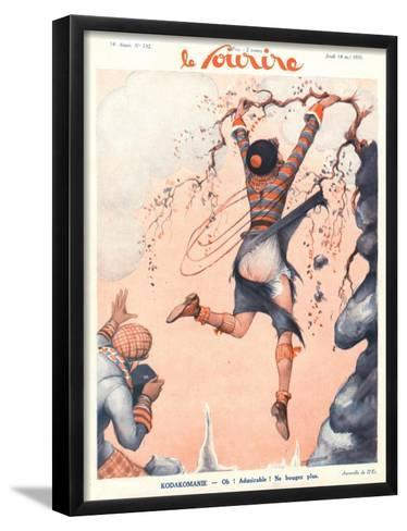 Front Cover of 'Le Sourire', May 1931-French School-Framed Art Print