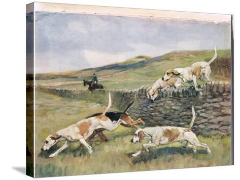 Crossing the Wall, Illustration from 'Hounds'-Thomas Ivester Lloyd-Stretched Canvas Print