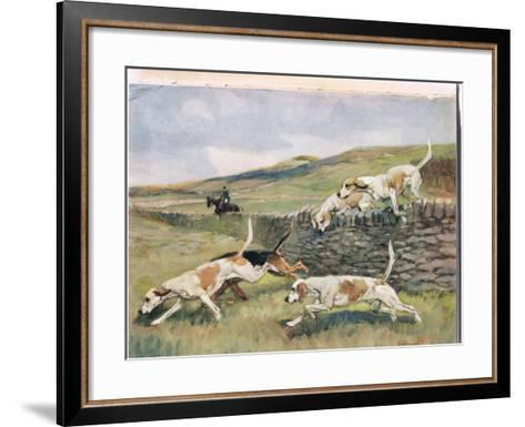 Crossing the Wall, Illustration from 'Hounds'-Thomas Ivester Lloyd-Framed Art Print