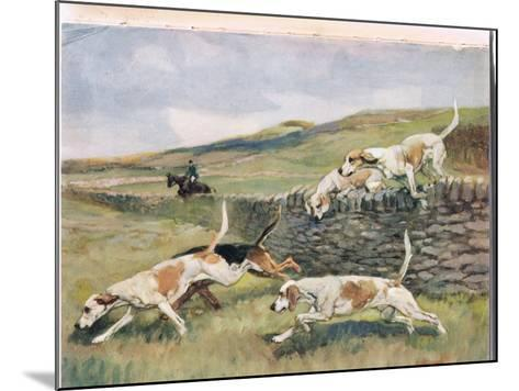 Crossing the Wall, Illustration from 'Hounds'-Thomas Ivester Lloyd-Mounted Giclee Print