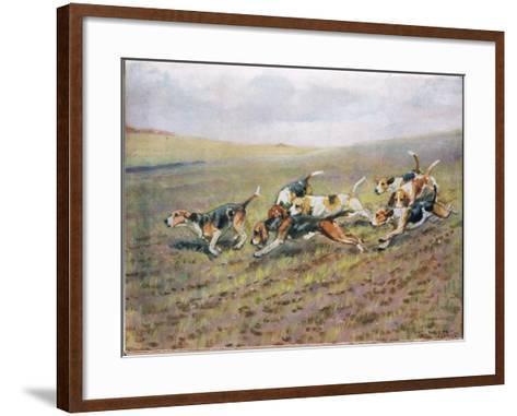 Crossing the Fields, Illustration from 'Hounds'-Thomas Ivester Lloyd-Framed Art Print