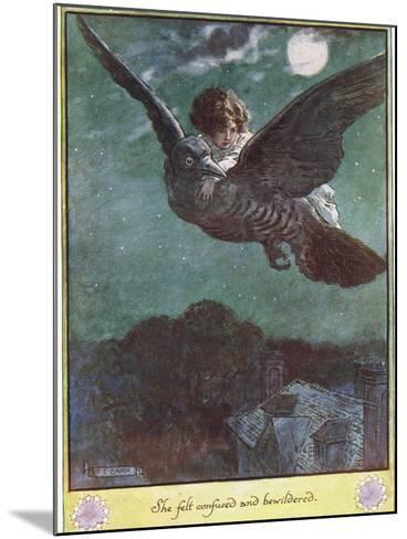 Flight on the Bird, Illustration from 'The Cuckoo Clock' by Mrs Molesworth,-Charles Edmund Brock-Mounted Giclee Print