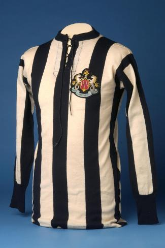 Newcastle United Jersey from the 1911 FA World Cup Final, 1911-English School-Stretched Canvas Print
