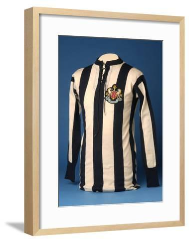 Newcastle United Jersey from the 1911 FA World Cup Final, 1911-English School-Framed Art Print