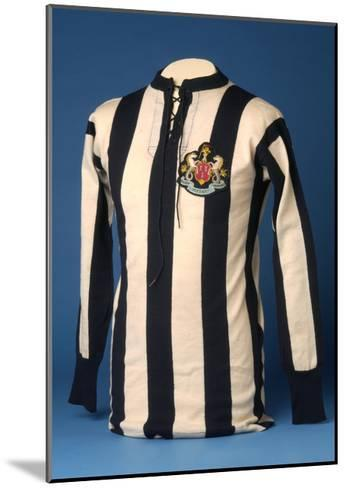 Newcastle United Jersey from the 1911 FA World Cup Final, 1911-English School-Mounted Giclee Print