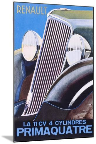 Brochure Advertising the Renault Primaquatre Automobile, c.1930-French School-Mounted Giclee Print
