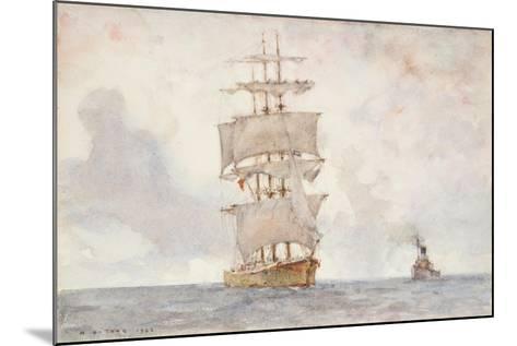 Barque and Tug, 1922-Henry Scott Tuke-Mounted Giclee Print