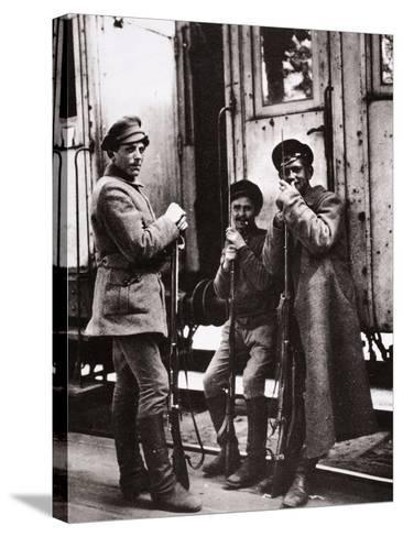Young Red Guards-Russian Photographer-Stretched Canvas Print