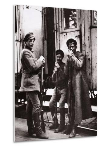 Young Red Guards-Russian Photographer-Metal Print