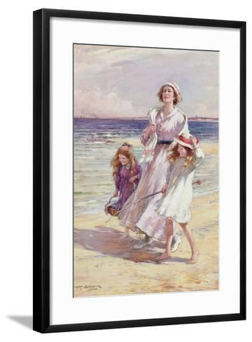 A Breezy Day at the Seaside-William Kay Blacklock-Framed Art Print