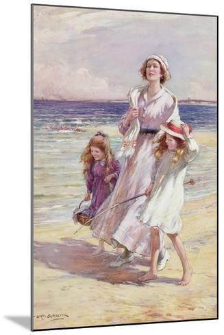 A Breezy Day at the Seaside-William Kay Blacklock-Mounted Giclee Print