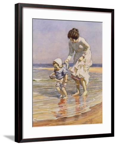 Paddling, 1915-William Kay Blacklock-Framed Art Print