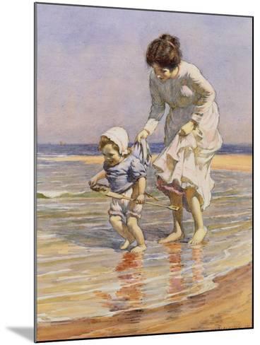Paddling, 1915-William Kay Blacklock-Mounted Giclee Print