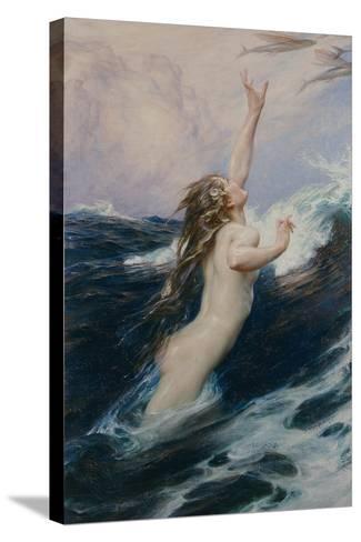 Flying Fish, 1910-Herbert James Draper-Stretched Canvas Print
