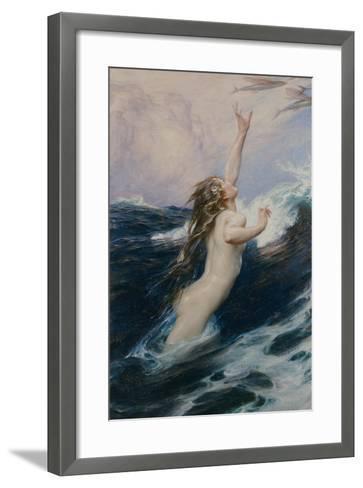 Flying Fish, 1910-Herbert James Draper-Framed Art Print