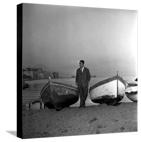 Giuseppe Marotta in Naples, 23rd November 1956--Stretched Canvas Print