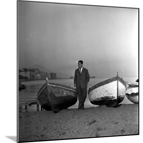 Giuseppe Marotta in Naples, 23rd November 1956--Mounted Photographic Print