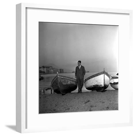 Giuseppe Marotta in Naples, 23rd November 1956--Framed Art Print