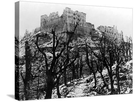 The Battle of Cassino: The Abbey of Monte Cassino Reduced to Rubble Following the Heavy Allied…--Stretched Canvas Print