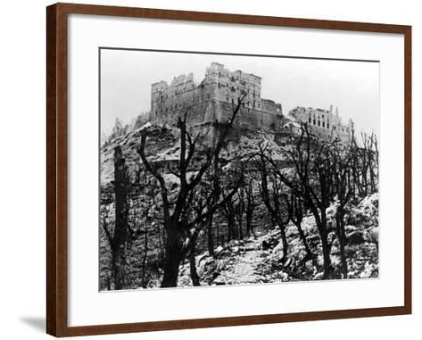 The Battle of Cassino: The Abbey of Monte Cassino Reduced to Rubble Following the Heavy Allied…--Framed Art Print
