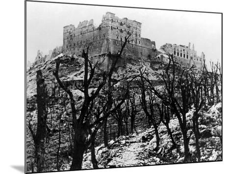 The Battle of Cassino: The Abbey of Monte Cassino Reduced to Rubble Following the Heavy Allied…--Mounted Photographic Print
