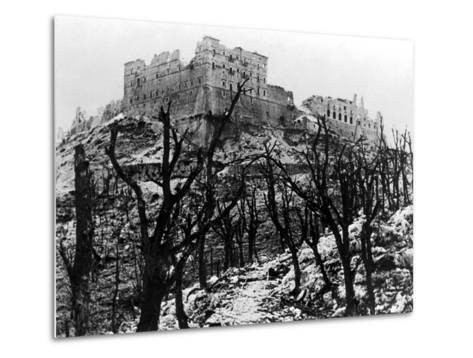 The Battle of Cassino: The Abbey of Monte Cassino Reduced to Rubble Following the Heavy Allied…--Metal Print