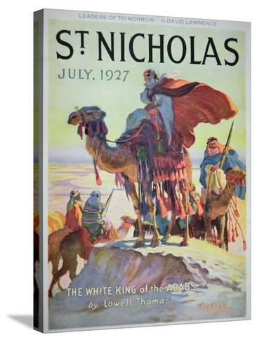 Front Cover of St. Nicholas Magazine, July 1927-American School-Stretched Canvas Print
