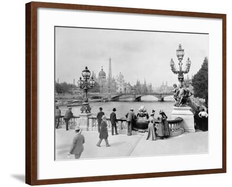 Pont Alexandre III - Exposition Universelle de Paris En 1900-French Photographer-Framed Art Print