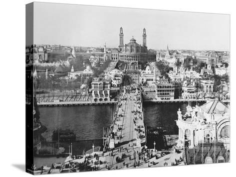 The Trocadero Seen from the Eiffel Tower - the Universal Exhibition in Paris, 1900-French Photographer-Stretched Canvas Print
