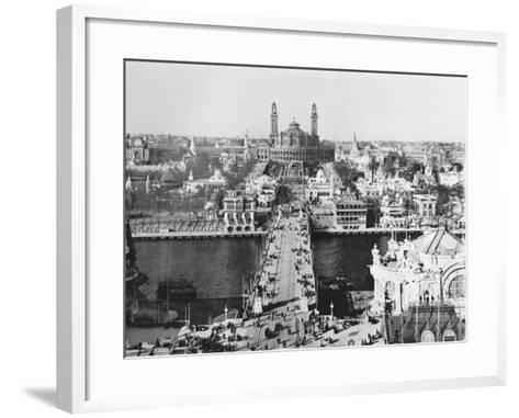 The Trocadero Seen from the Eiffel Tower - the Universal Exhibition in Paris, 1900-French Photographer-Framed Art Print