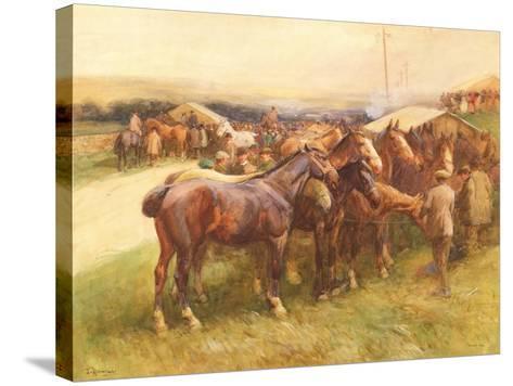 Brough Hill-John Atkinson-Stretched Canvas Print