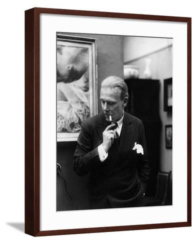 Portrait of German Writer Hanns Heinz Ewers-German photographer-Framed Art Print